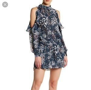Parker cold shoulder ruffle floral dress